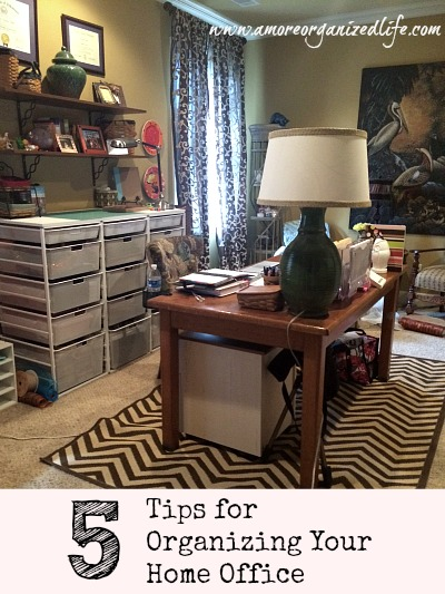 5 tips for organizing your home office the planning woman Organizing your home