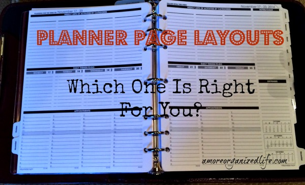 Planner page layouts