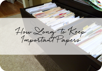 How Long to Keep Important Papers