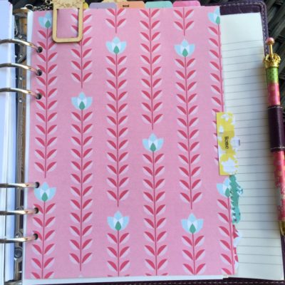 A Closer Look Inside My Planner-Home Section