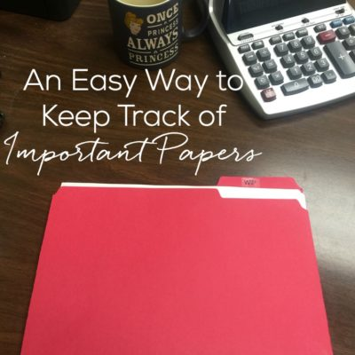 An Easy Way to Keep Track of Important Papers