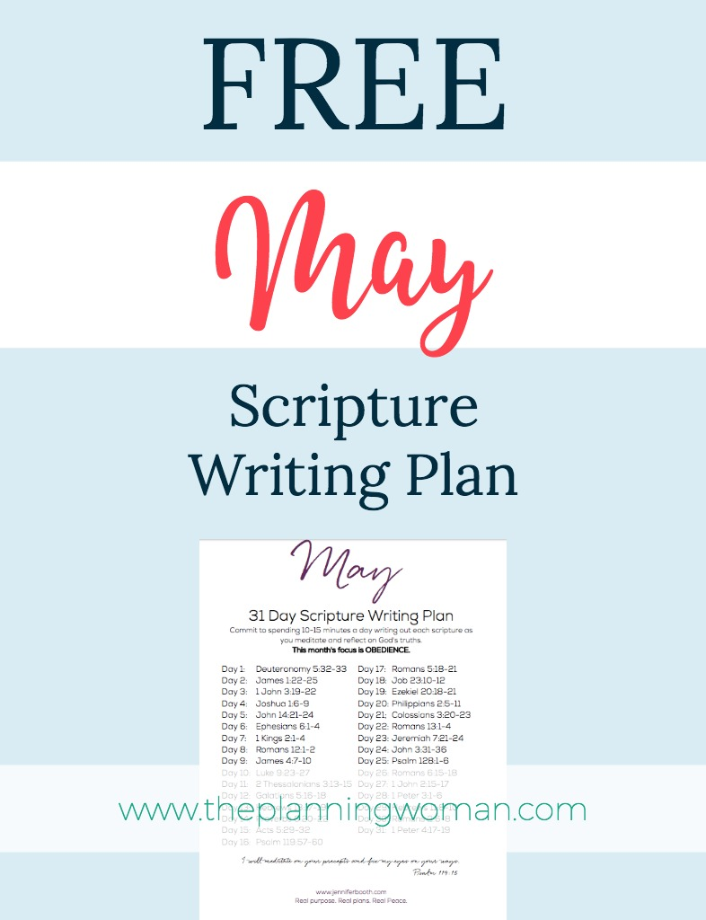 FREE Scripture Writing Plan--Join me in writing out scriptures about Obedience this month. Just 10 minutes a day will help you grow in your relationship with God.