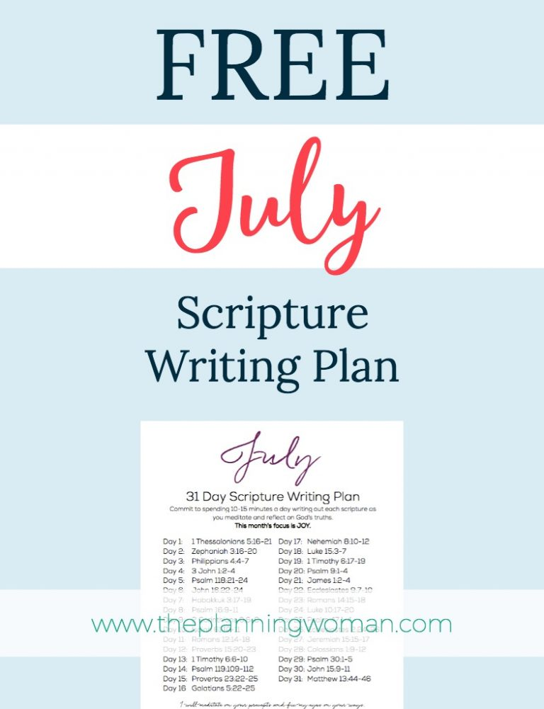 Join us this month in writing out scriptures about JOY.