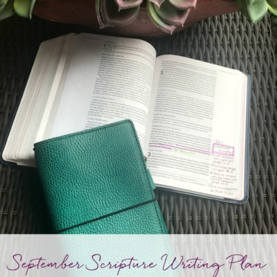 September Scripture Writing Plan