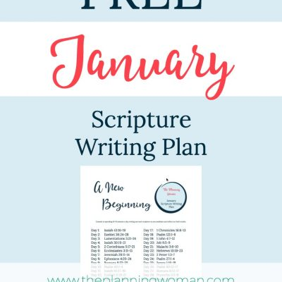 Writing Scripture in the New Year-January Scripture Writing Plan