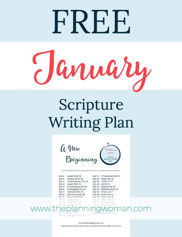 January Scripture Writing Plan-This month the focus is NEW BEGINNINGS. Join me in writing out the scriptures every day. You will be blessed and encouraged by being in God's Word every day.
