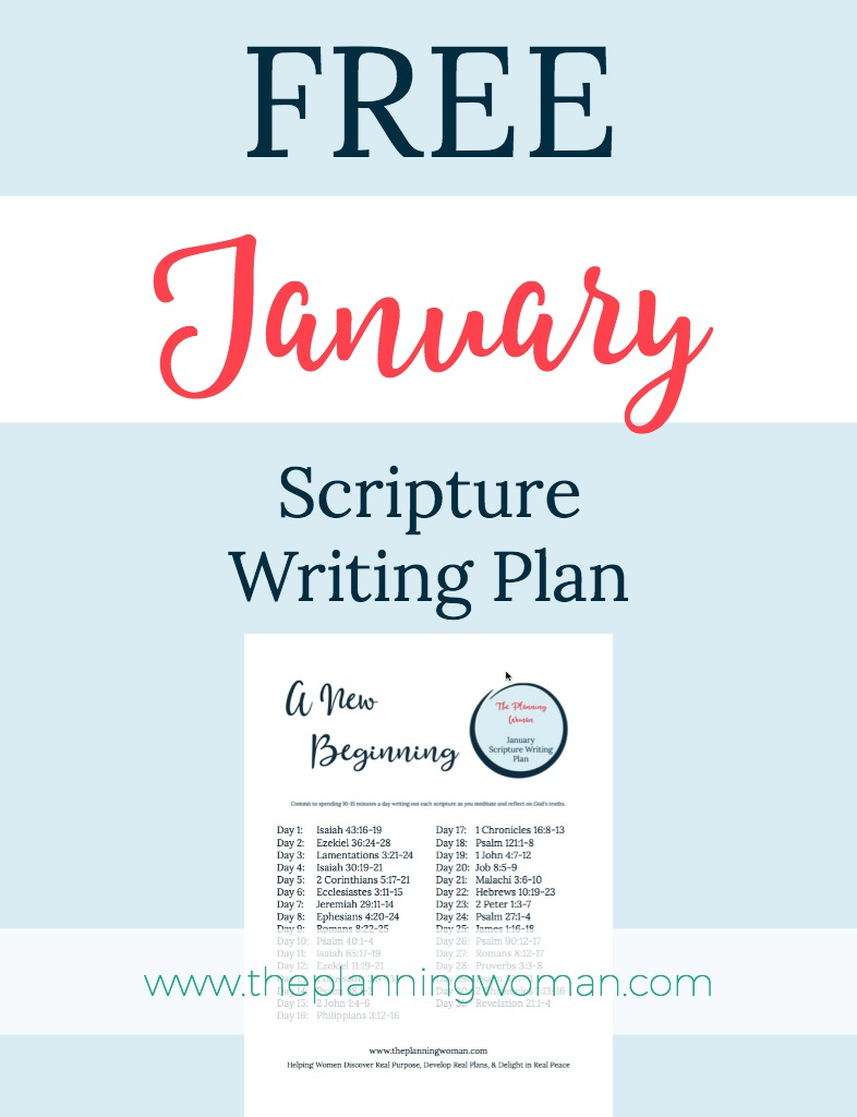 Writing Scripture in the New Year-January Scripture Writing Plan ...