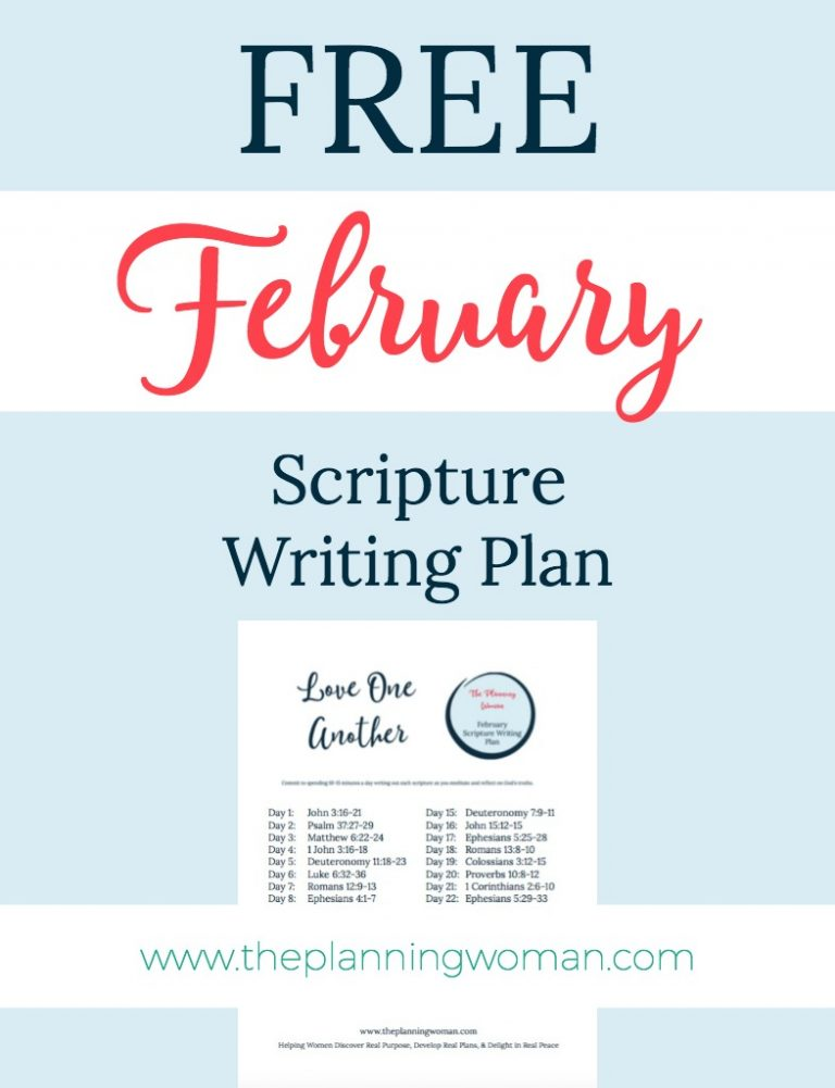 Love One Another-February Scripture Writing Plan