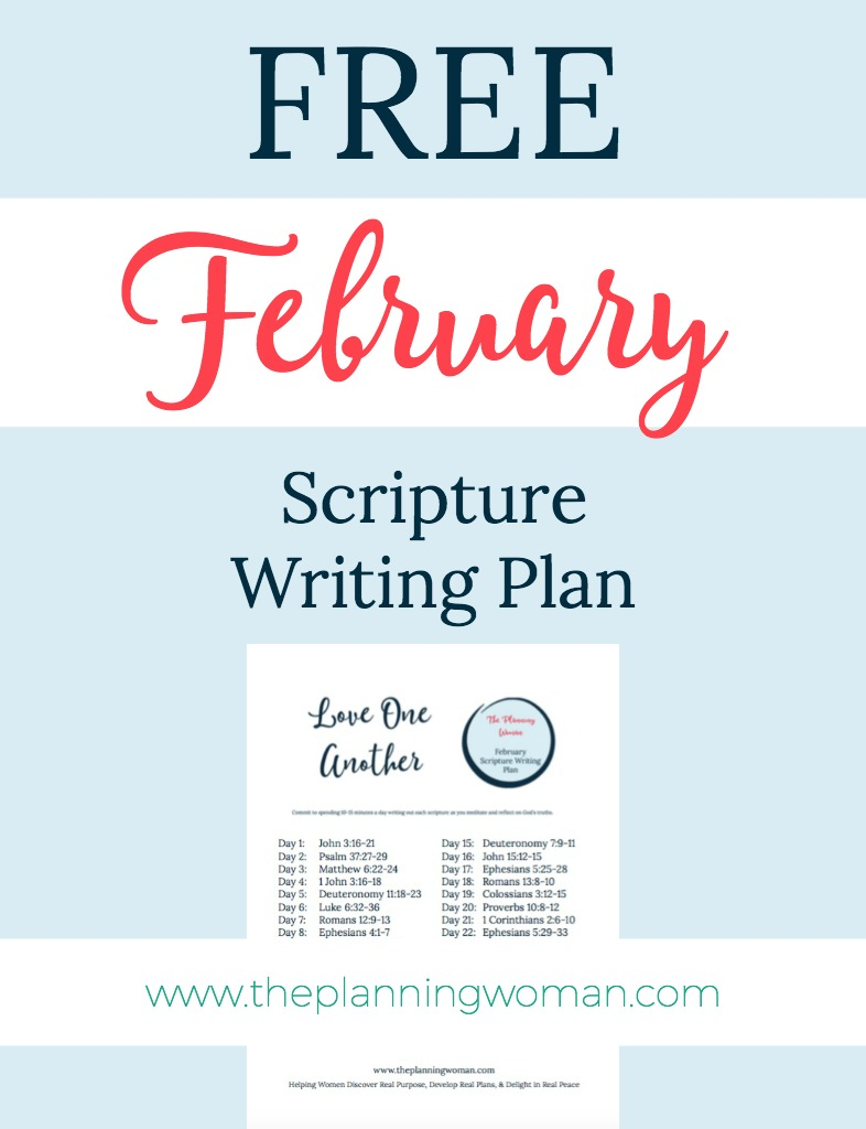 Love One Another-February Scripture Writing Plan - The