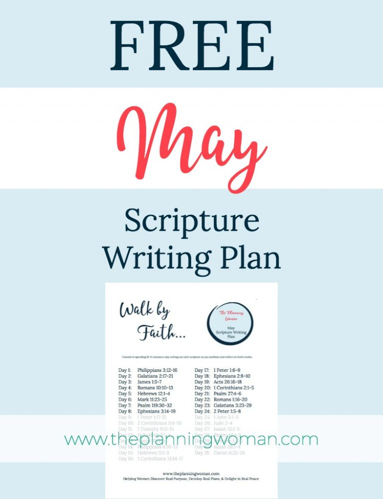 Walk by Faith-May Scripture Writing Plan