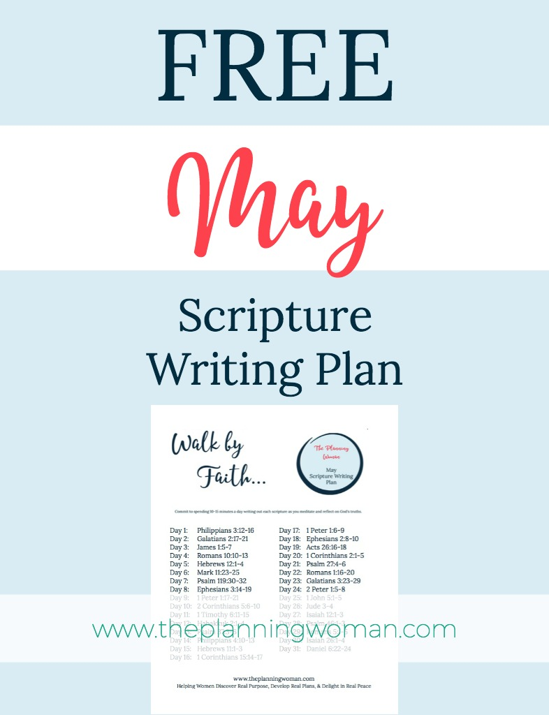 FREE Scripture Writing Plan-This month's focus is FAITH. Join me in writing out verses that will help you increase your faith.
