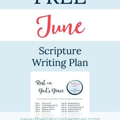 Rest in God's Grace-June Scripture Writing Plan