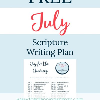 Joy for the Journey- July Scripture Writing Plan