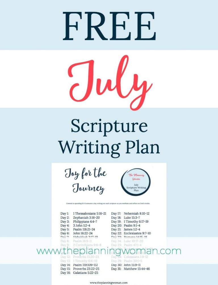 FREE Scripture Writing Plan-Join me this month in writing out verses about JOY.