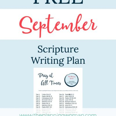 Pray at All Times-September Scripture Writing Plan