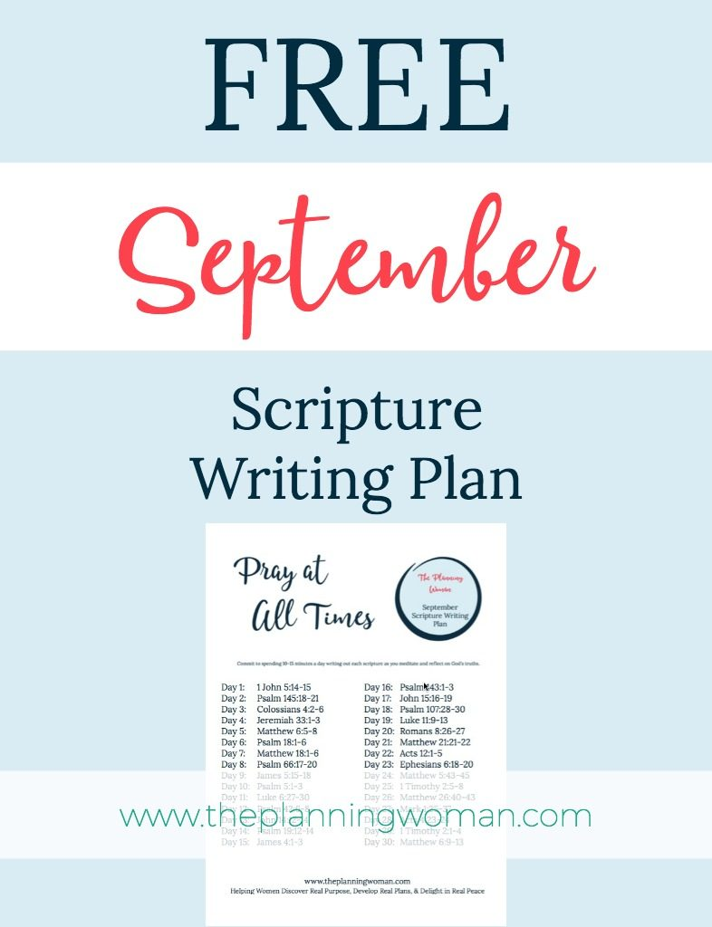 FREE Scripture Writing Plan-Join us in writing out scriptures about prayer this month.