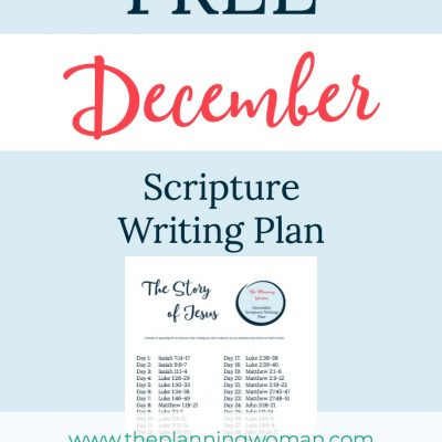 The Story of Jesus-December Scripture Writing Plan