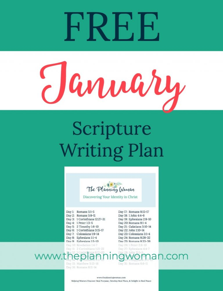 Discovering Your Identity in Christ-January Scripture Writing Plan