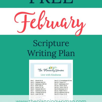 Live With Kindness-February Scripture Writing Plan