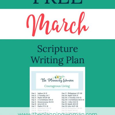 Courageous Living-March Scripture Writing Plan