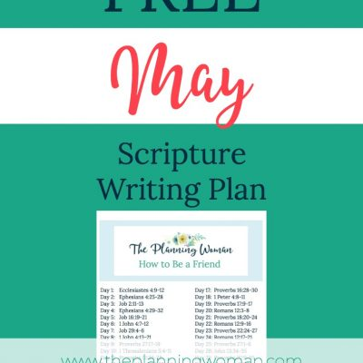How to Be a Friend-May Scripture Writing Plan