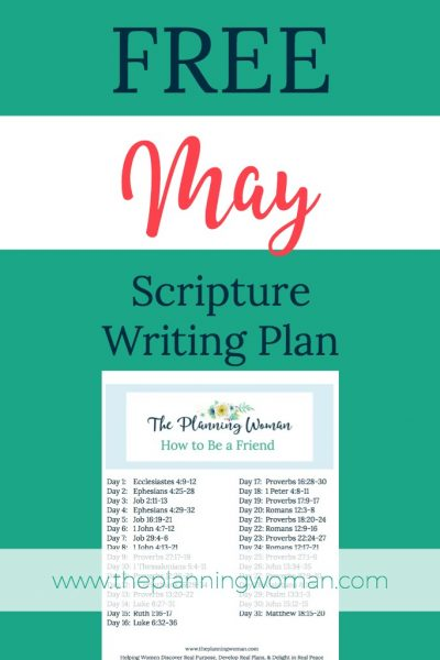 FREE Scripture Writing Plan-Join us this month as we write out verses that will help us to be better friends.