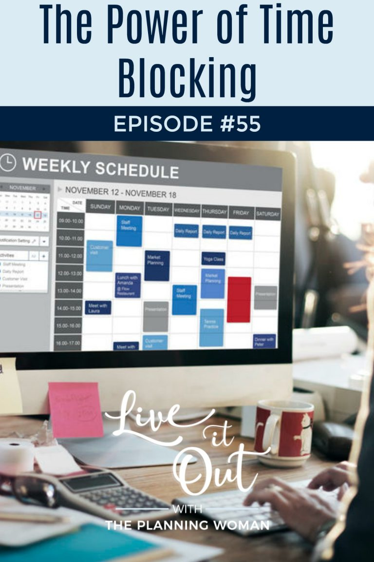 Discover how you can be more productive with time blocking. Join The Planning Woman on this episode of Live It Out With The Planning Woman to learn how to time block so you can be more productive.
