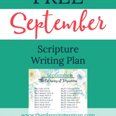 The Blessing of Forgiveness-September Scripture Writing Plan