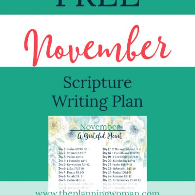 A Grateful Heart-November Scripture Writing Plan