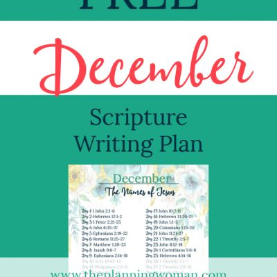 The Names of Jesus-December Scripture Writing Plan