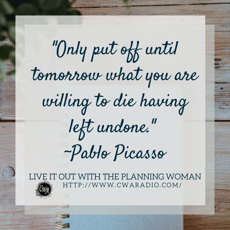 Episode 65 of Live It Out With The Planning Woman