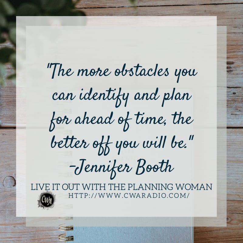 Episode 63 of Live It Out With The Planning Woman.