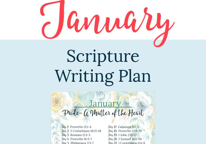 FREE Scripture Writing Plan-Join The Planning Woman as we write out verses about pride.