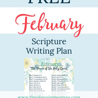 The Power of the Holy Spirit-February Scripture Writing Plan