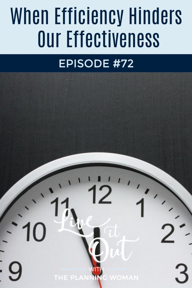 072:  When Efficiency Hinders Our Effectiveness