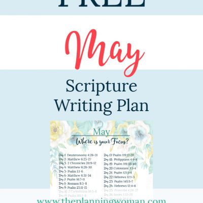Where is Your Focus? – May Scripture Writing Plan