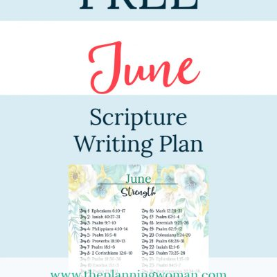 Strength-June Scripture Writing Plan