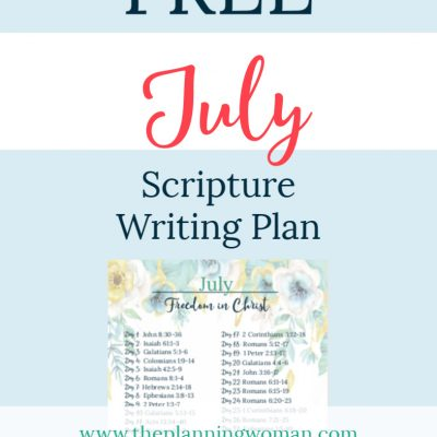 Freedom in Christ-July Scripture Writing Plan