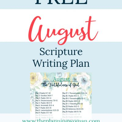 The Faithfulness of God-August Scripture Writing Plan