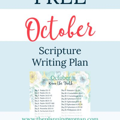 Know the Truth-October Scripture Writing Plan