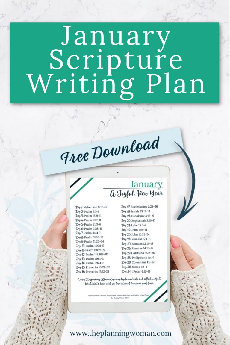 FREE Scripture Writing Plan-Join The Planning Woman Community as we write out verses about joy.