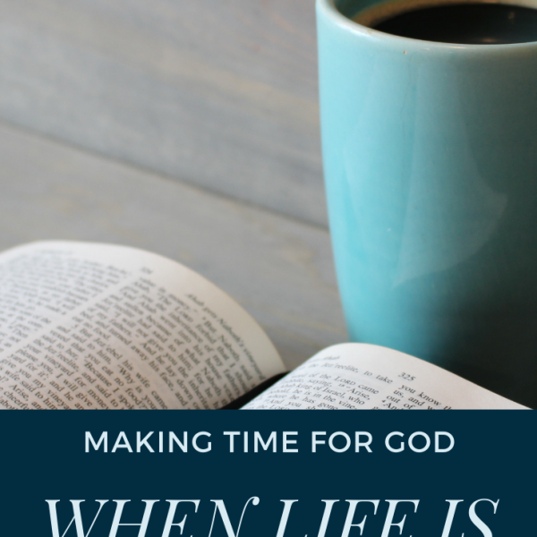 Think you're too busy to spend time with God? Check out four tips to help you fit time with God into your busy schedule.