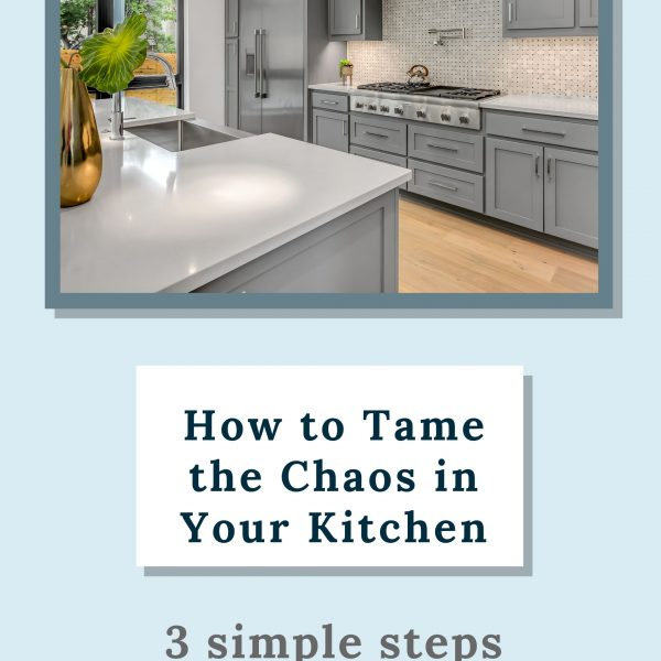 Is your kitchen a disaster area that you try to avoid at all costs? Because it is one of the most used rooms in our home, the kitchen often becomes a dumping ground that can keep us from wanting to spend time there. Try these simple steps to tame the chaos in your kitchen.