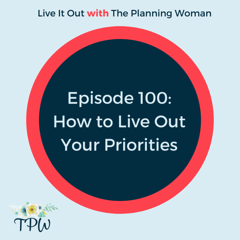 Ep. 100 How to Live Out Your Priorities