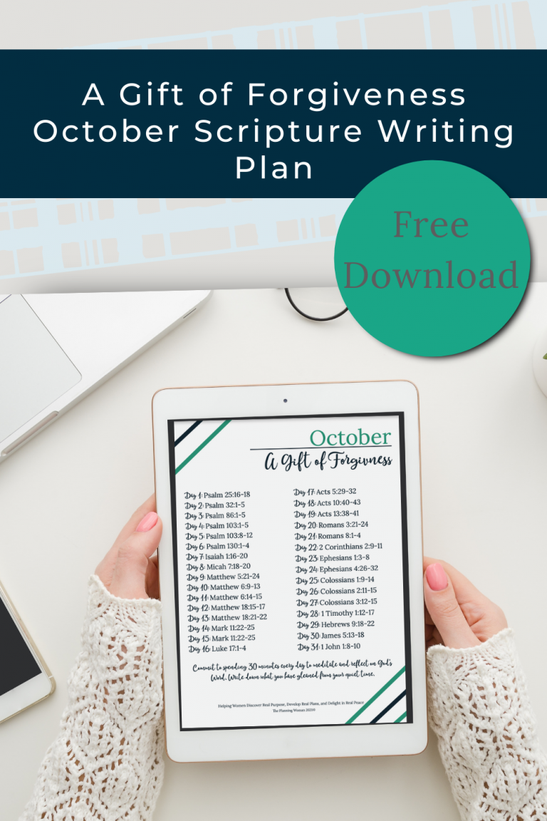 A Gift of Forgiveness-October Scripture Writing Plan
